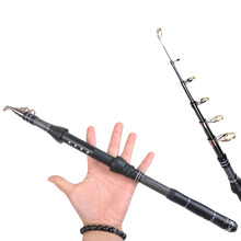 1.8 3m carbon spinning fishing rod short hard telescopic rod for bass carp ultralight boat rock pole pesca stick