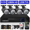 DEFEWAY 4ch NVR Kit For IP Camera 4ch 960H Video Surveillance DVR KIT 4X800TVL Outdoor Camera