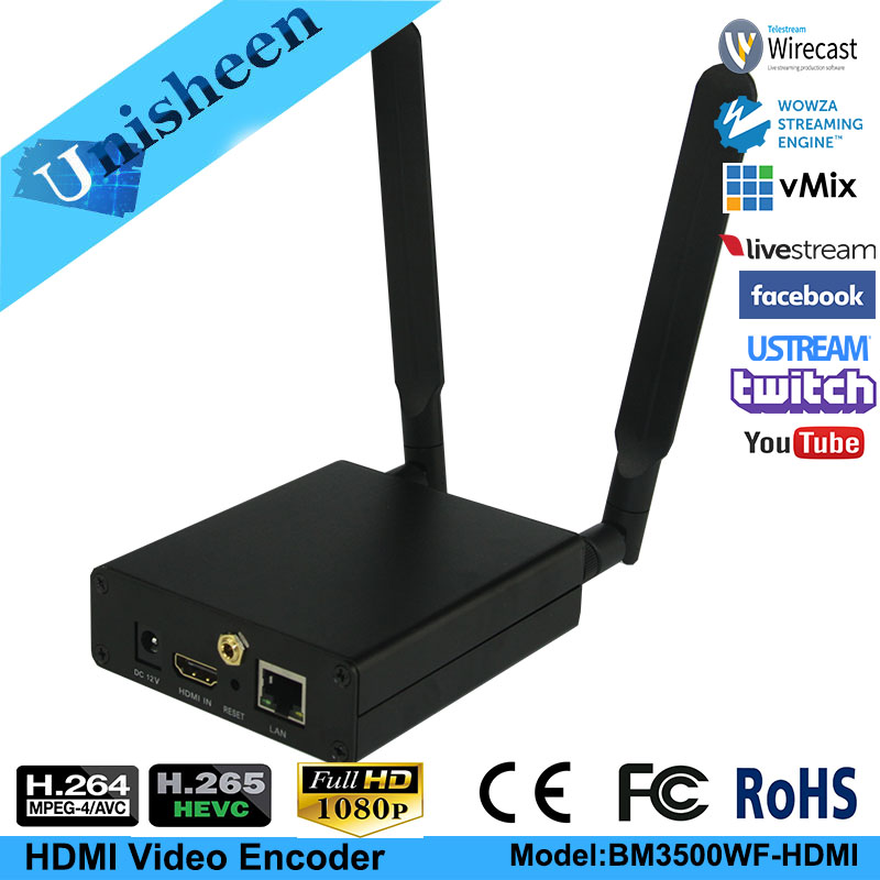 цены H.265 HEVC H.264 wifi HDMI Video Encoder Streaming encoder HDMI Transmitter live Broadcast encoder wireless H264 iptv encoder