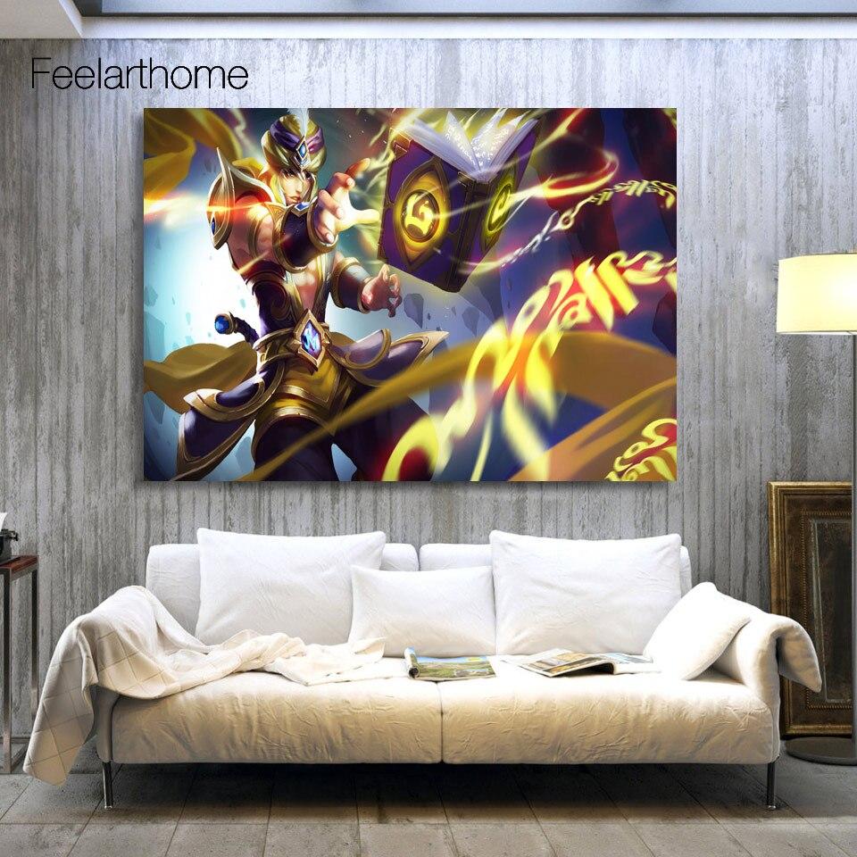 1 unidades de la lona de arte de la lona pintura video game king of glory impres