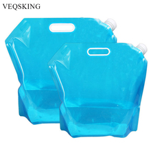 5L 10L Folding Water Bag Canister PE Tasteless Safety Seal Lightweight Drinking Water Stor