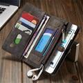 Couro case para iphone 6 plus 6 s plus caseme 7 7 plus para samsung galaxy s7 edge flip phone bag capa carteira com cartão titular
