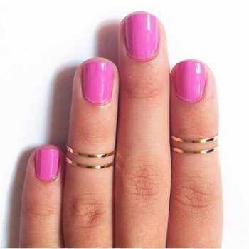 hot fashion new punk common short thin alloy finger ring diameter gold and silver color, wholesale