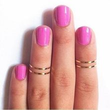 hot fashion new punk common short thin alloy finger ring diameter gold and silver color, wholesale(China)