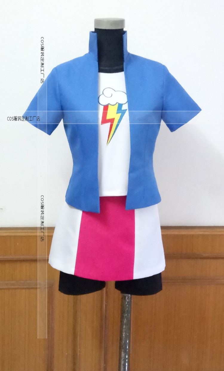 Rainbow Dash Cosplay Costume Anime Custom Made Personification Uniform Full Set