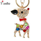 New Crystal Rhinestone Cute Sika Deer Keychain Lady Car Bag Pendant Charm Best Birthday Christmas Gifts for her Mom jewelry