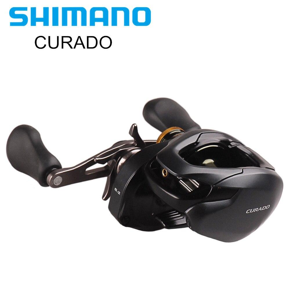 SHIMANO CURADO K 200/201 200HG/201HG 7BB cebo de perfil bajo carrete de Pesca Hagane cuerpo Baitcasting carrete Moulinet Peche Pesca