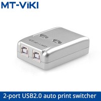 MT-VIKI USB2.0 Auto Selector Switch Printer 2 Port  Flash Driver Mouse Sharing Switcher Hotkey Software Control  MT-SW221-CH