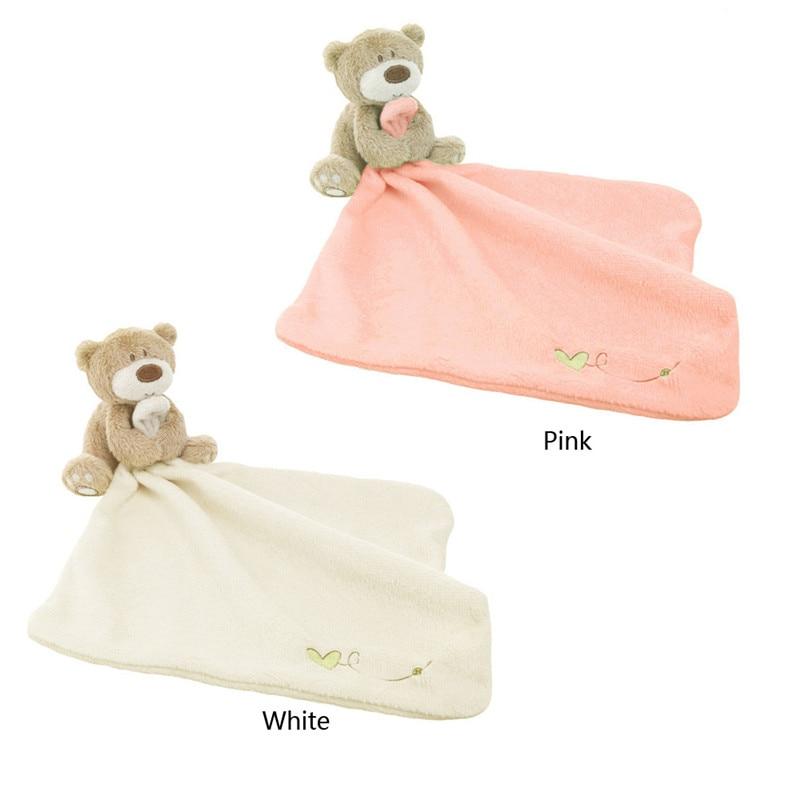 Infant Lovely Baby Girl Nursery Toddler Soft Smooth Bath Cartoon Bear Toy Baby Blanket Baby Bath Towel With Bear Bath Toy