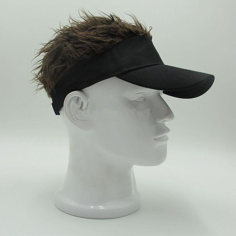 Adjustable Baseball Hat Man's Women's Toupee Wig Funny Hair Loss Cool Golf Caps Novelty Baseball Cap