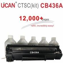 UCAN CNTC (kit) CB436a Cartouche pour Hp laserJet 1505 1505n M1120 mfp M1522n Laser Imprimante 12,000 pages