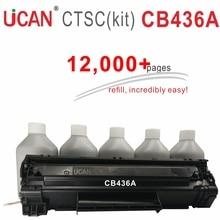UCAN CTSC (kit) CB436a Cartrodge para Hp laserJet 1505 mfp M1120 M1522n laserjet 1505n Impresora Láser 12,000 páginas