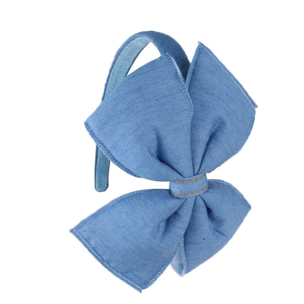 Kvinnor Denim Knotted Bow Headband För Flickor Kaninör Handmade - Kläder tillbehör - Foto 6