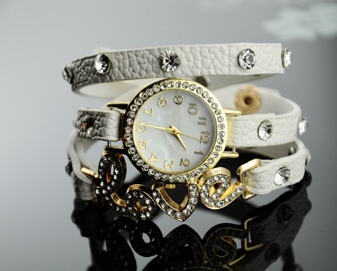 Girls Bracelet Watch Birthday Gift Accessories Fashion Love Diamond Rhinestone Girlfriend Giftswith Box In Womens Watches From