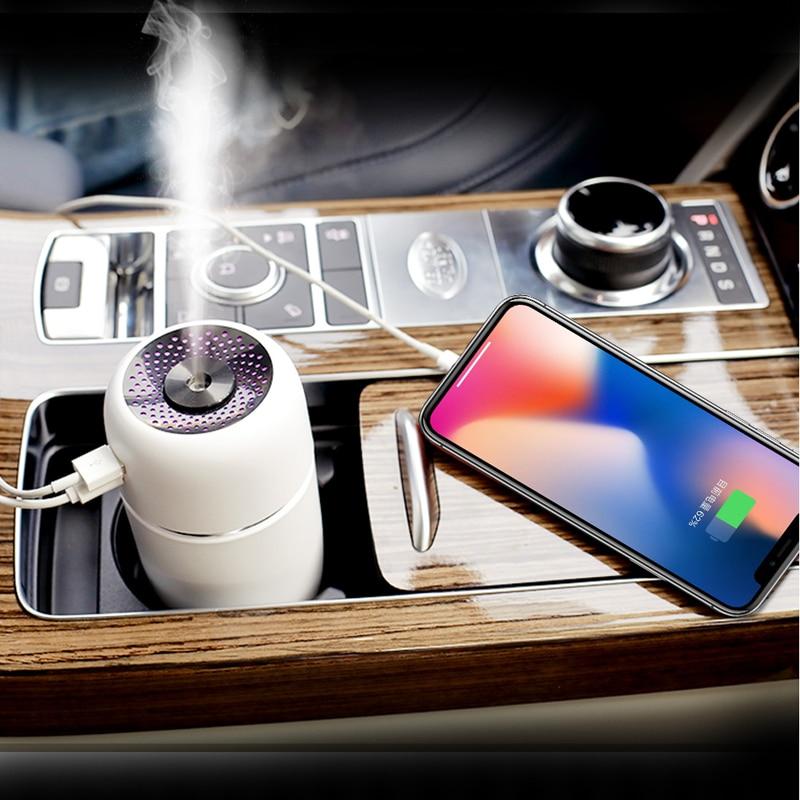 Portable LED Air Humidifier Essential Oil Diffuser Mini USB Air Humidifier Purifier Car ultrasonic Aromatherapy Diffuser USB