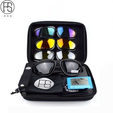 ФОТО new daisy x7 army goggles desert 4 lens, outdoor uv sports hunting military sunglasses men & women, war game glasses