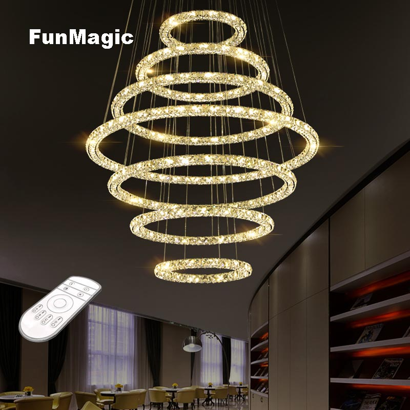Large Luxurious Crystal Pendant Light Hotel Hall Ceiling Fixture Villa Living Room Hanging Lighting Droplight Engineering Lamps