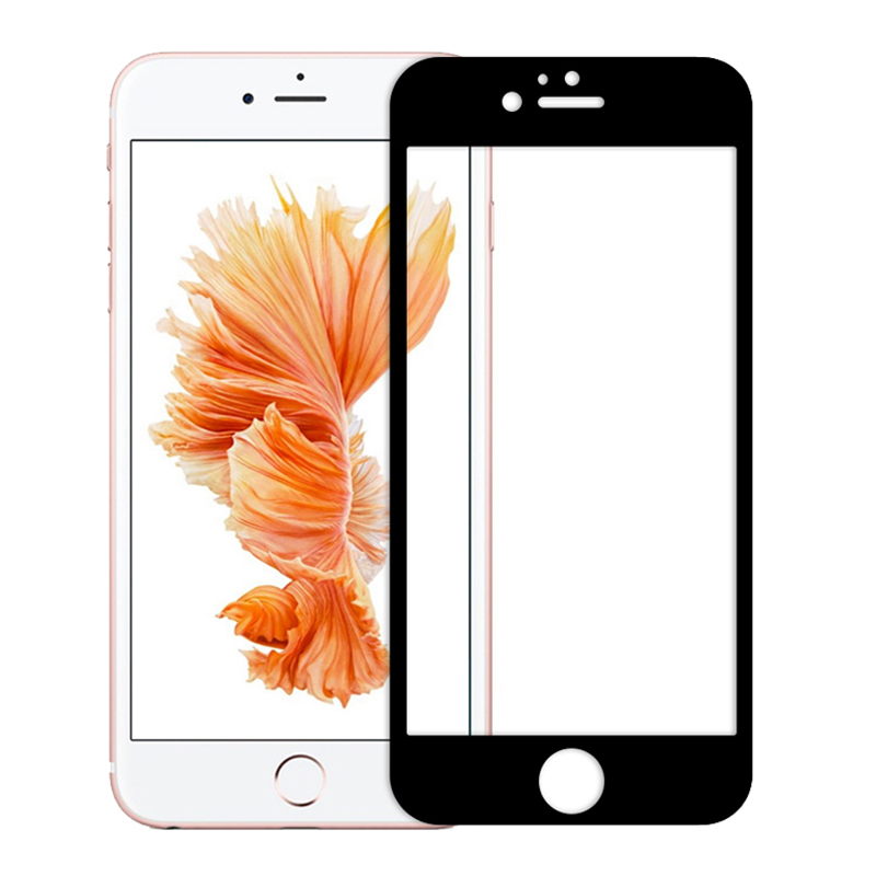 Full Cover Tempered Glass for iPhone 7 6 6s Plus 7Plus 9H Colorful Screen Protector Anti Shatter Toughened Protective Film