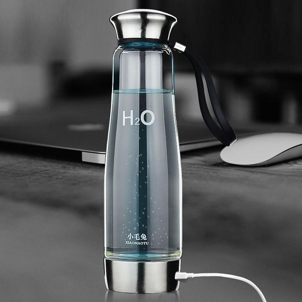 844cb201dc XIAOMAOTU 500ML Hydrogen Water Generator Glass Bottle Healthy Hydrogen Rich  Water Bottle High Borosilicate Glass Ionizer Bottle