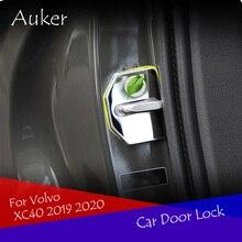 Автомобильные аксессуары Нержавеющая сталь Дверные замки Защитная крышка авто-Стайлинг 4 шт./компл. для Volvo XC40 XC60 XC90