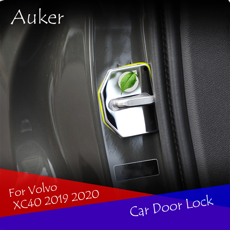 Car Accessories Stainless Steel Door Lock Cover Protection Car-styling 4Pcs/Set For <font><b>Volvo</b></font> XC40 <font><b>XC60</b></font> XC90 2017 2018 <font><b>2019</b></font> image