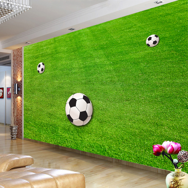 green grass soccer field. custom wallpaper murals green lawn soccer field for living room  bedroom walls 3d mural wall green grass soccer field