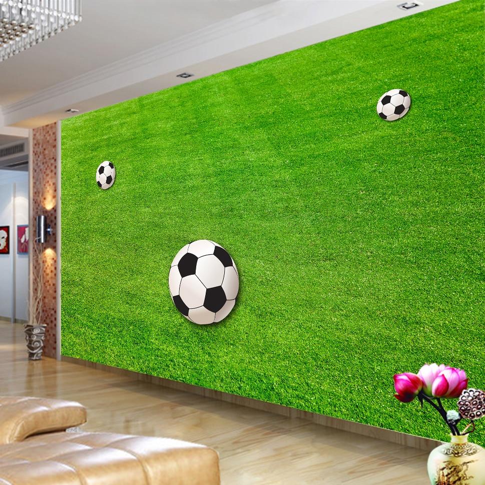 US $8 47 OFF Wallpaper Kustom Mural Rumput Hijau Lapangan Sepak Bola Wallpaper Untuk Ruang Tamu Kamar Tidur Dinding 3D Mural Dekorasi Dinding