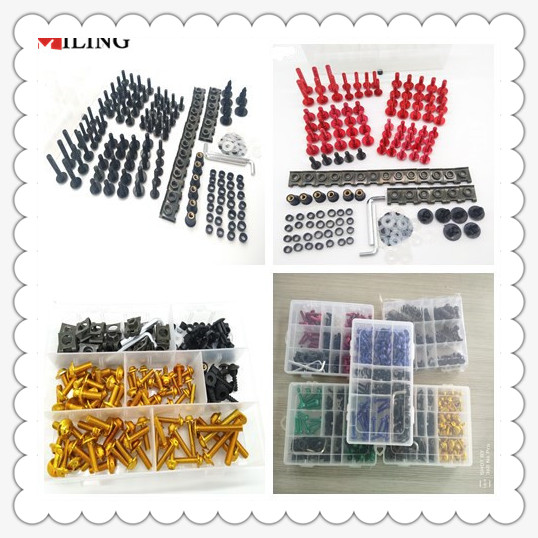 цена на Motorcycle motorbike Screws Pike Bolts nuts Fairing FOR Kawasaki Z750R ZX10R ZX6R 636 H2 H2R ZZR ZX1400 S VeRsion 300X