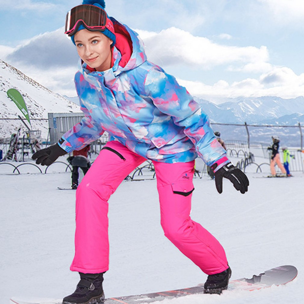 Veste de Ski femme veste de Snowboard imperméable veste de neige Ski Sportswear respirant Super chaud hiver combinaison de Ski manteaux Drop Shippin
