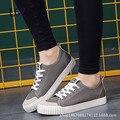 2016 Envío de Las Mujeres de Moda Zapatos de Lona con cordones de Moda Los Zapatos Bajo-Top de color Caramelo Transpirable Zapatos Casuales tamaño 35-40