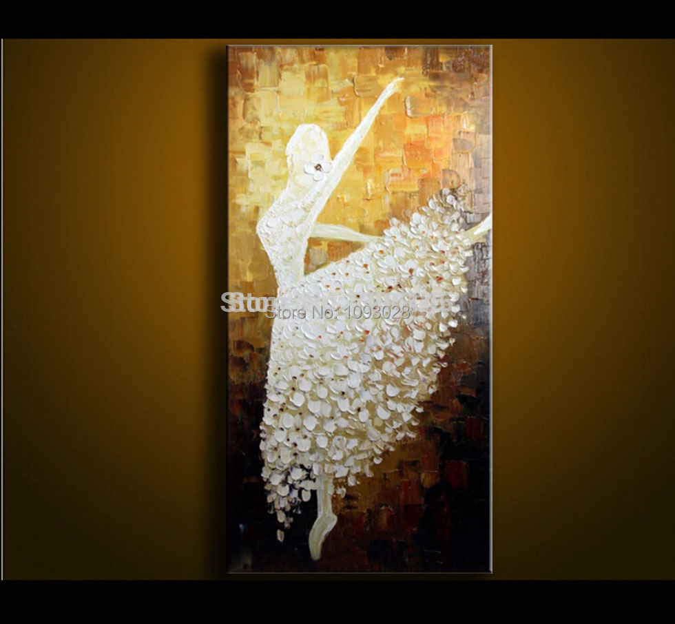 Living room oil paintings - Aliexpress Com Buy Wall Pictures For Living Room Oil Painting On Canvas Abstract Art Ballet Painting Modern Home Villa Hotel Sitting Room Corridor From