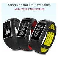 DB10 GPS Trajetória de Movimento Banda Esportes Pulseira Inteligentes Dinâmica Heart Rate Pedômetro Pulseira À Prova D' Água para iPhone 8 Plus 8 X