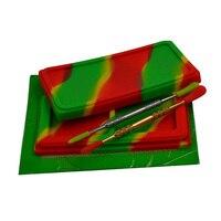 Waxmate Antiaderente Silicone Recipiente cera Dab + Frasco de concentrado de óleo Bho Liso Escultores Dabber ferramenta/prego + Fermento almofada de Silicone ou esteira