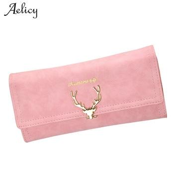 Aelicy Women Wallet High Capacity Fashion Long Wallet Female Deer Head Design coin purse women girls pouch cute fashion wallet
