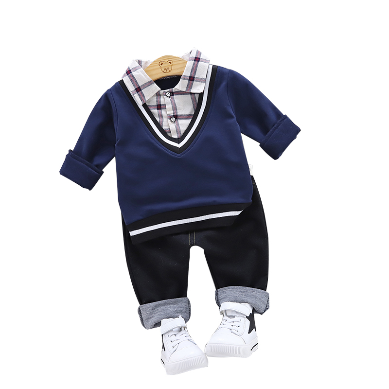 2 Pcs Spring Baby Boy Girl Clothes Set Children Clothing Sets Products Kids Clothes Baby Boys Girls T-shirts+Pants 1-4Y