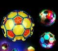 10 см из светодиодов свет прыжки мяч дети сумасшедшие музыка футбол / прыгающий мяч / танец мяч / футбол детская забавные игрушки рождественский подарок