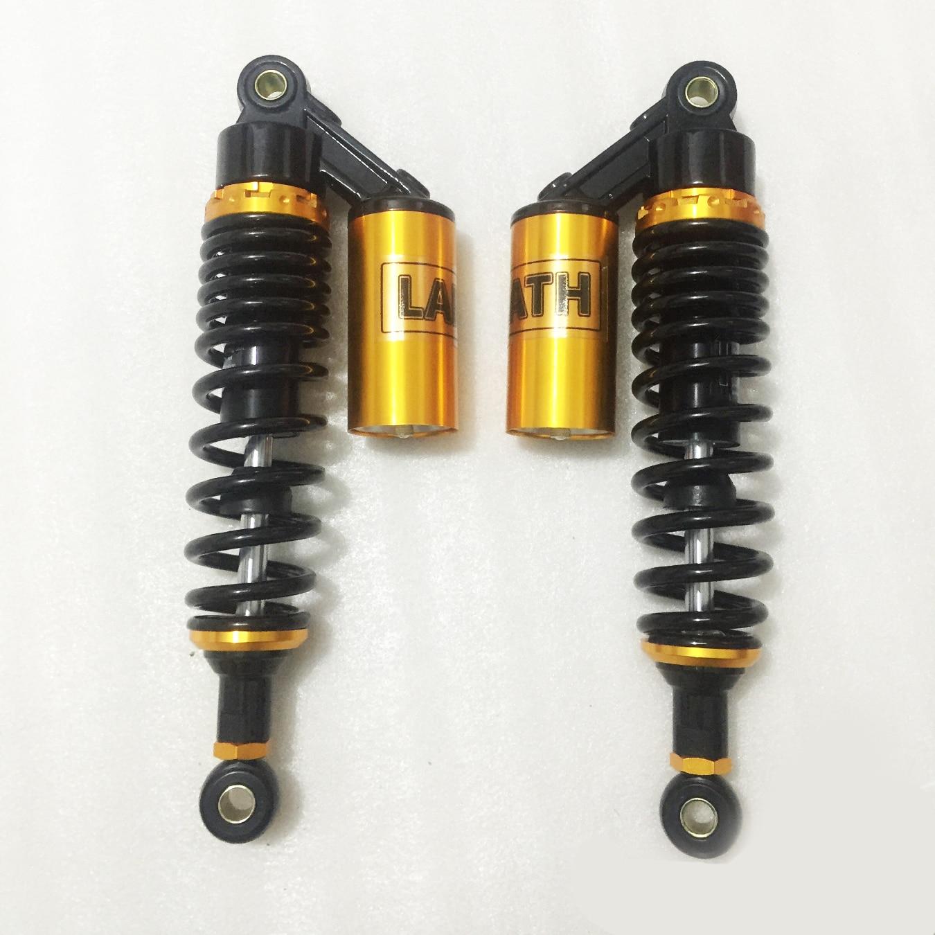 320mm 330mm 340mm Motorcycle Air Shock Absorber for HONDA SUZUKI YAMAHA cx500 xjr400 GSX750 CB400 TRX250R 450R 400ER 1 set yellow 320mm motorcycle air shock absorbers for honda trx250r 450r 400er quad atv rfy
