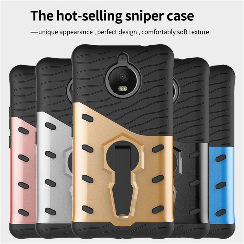 wekays for motorola moto e4 plus luxury armor pc tpu anti knock stand funda hard case for coque. Black Bedroom Furniture Sets. Home Design Ideas