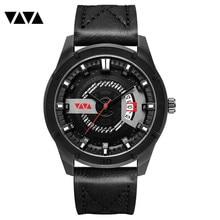 VA VA VOOM New Simulation Luxury Sports Leather Belt Quartz Men's Watch gerryda Simple Brand Luxury Watch Fine Gift Men's Watch топ voom