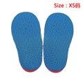 Um par de crianças eva pé plano palmilhas ortopédicas pé varo o tipo pernas/x corretiva palmilha xs/s/m