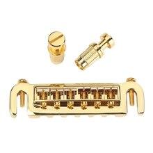 Гитарная часть 6 струн регулируемое седло мост задняя часть для Lp Gold