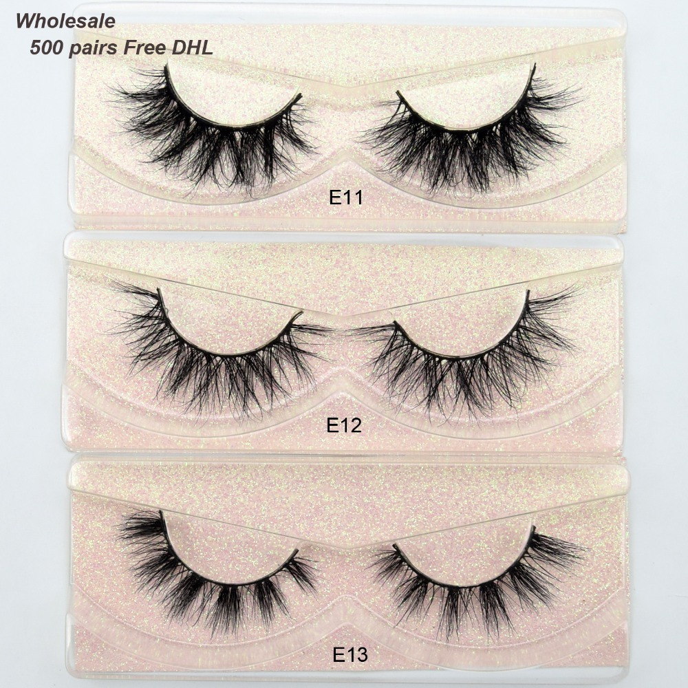 Free DHL 500pairs Visofree Mink Eyelashes 3D Mink Lashes Handmade Volume Lashes Soft Fluffy Mink Lashes False Eyelashes 101style