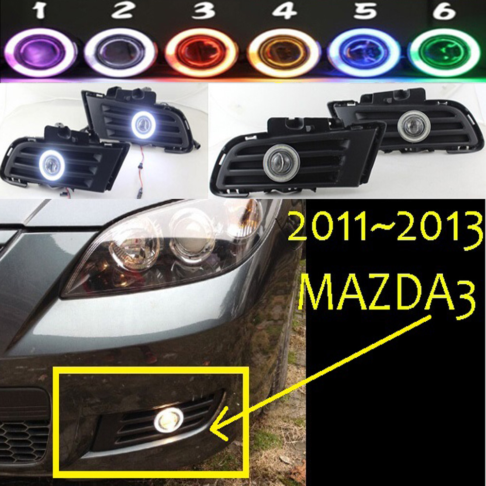 MAZD3 fog light ,2011~2013 Free ship!MAZD 3 daytime light,2ps/set+wire ON/OFF:Halogen/HID XENON+Ballast,MAZD3 2011 2013 golf6 fog light 2pcs set wire of harness golf6 halogen light 4300k free ship golf6 headlight golf 6