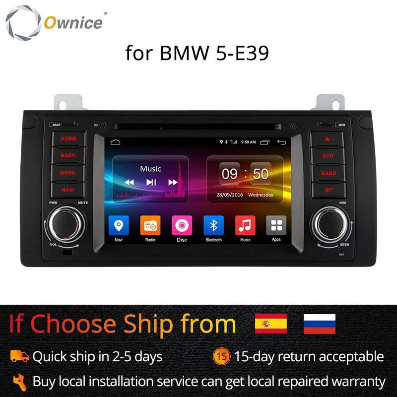 Ownice 4G SIM LTE Android 6.0 Octa Núcleo 32G ROM No Painel Do Carro DVD Player Para BMW E39 x5 M5 E38 E53 Com Wifi GPS Navi Rádio FM