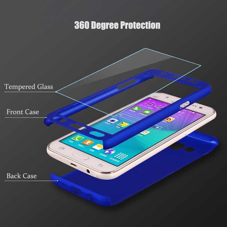 huge selection of 7e446 a00d5 360 Phone Case For Samsung Galaxy J3 J5 J7 2016 J4 J6 J8 2018 Glass Full  Cover Case For Samsung J7 Pro EU 2017 J2 J5 J7 Prime on