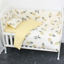 3 szt zestaw pościeli pościel dla dzieci czystej bawełny łóżeczko zestaw obejmuje kołdra pokrywa poszewka płaski arkusz dla dziewcząt chłopców
