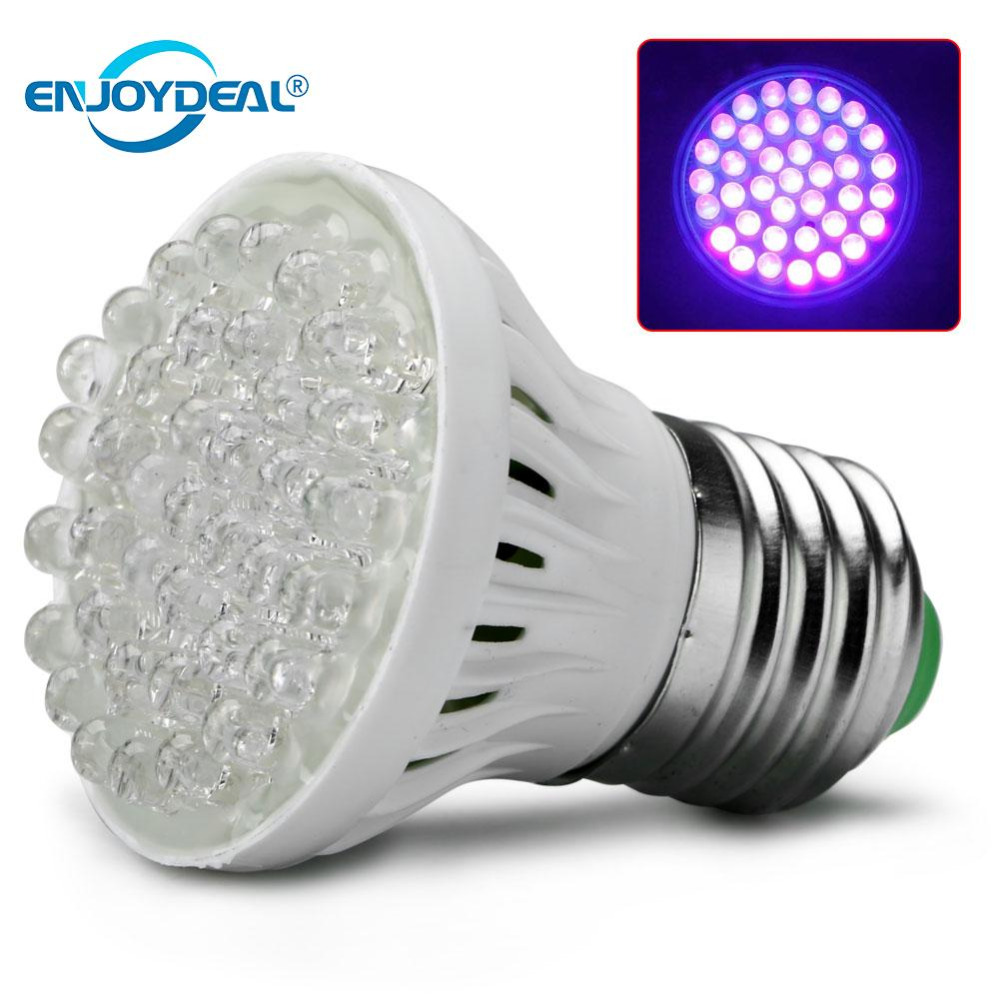 Enjoydeal E27 38led Plant Grow Light Lamp Ultra Bright Uv