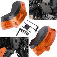 Motorcycle Left Right Engine Case Slider Guard Protector Cover For KTM 790 Duke 2018 2019 Orange Black Stator Cover Crash Pad
