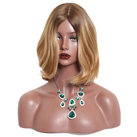 Kosher Jewish Wig European Hair Straight Highlight Colored Blonde Human Hair Wigs 4x4 Silk Top 130% Virgin Hair Wigs For Women