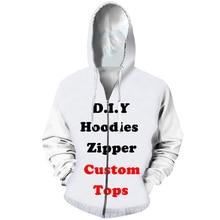 CJLM Diy Custom Design Mens Womens Clothing 3D Print Zipper